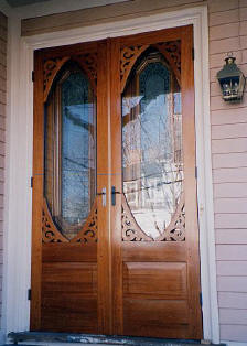 Double doors double storm door for Double storm doors