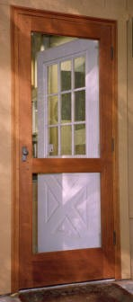 Pre-hung screen-storm door Wellington style 120